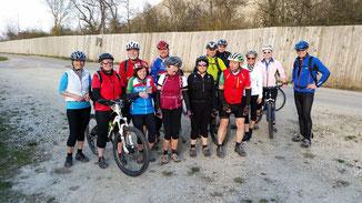 Die erste Tour der Nellinger MountainbikerInner
