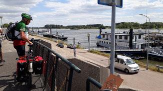 Das Ziel, die Uferpromenate in Emmerich ist erreicht...