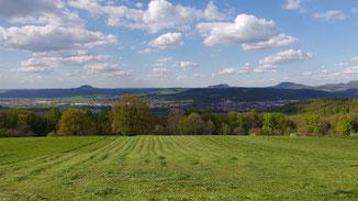 Blick vom Fränkel Richtung Kaiserberge