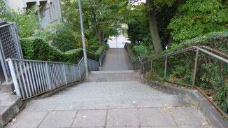 Über die Liststaffel geht es die letzten Meter hinunter auf den Marienplatz...