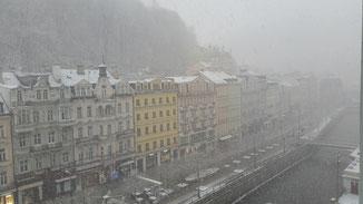 Dichter Schneefall ist keine Seltenheit. Die Temperaturen ähneln denen der schwäbischen Alb