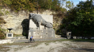 Puh, das war eine harte Rampe zum Löwendenkmal...