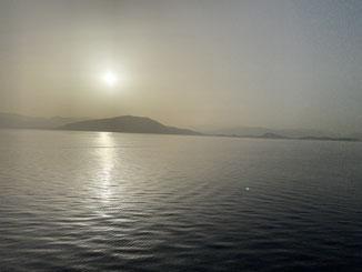Erster Blick auf Griechenland frühmorgens
