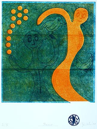Paar: Tiefdruck auf Bütten, Auflage 5, 45 x 32 cm, 2011