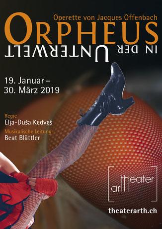 """Saison 2019 - Plakat """"Orpheus in der Unterwelt"""""""