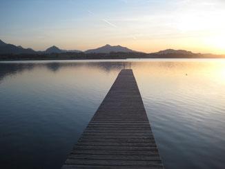 Hopfensee, neben dem Weißensee, einer unserer Lieblingsseen