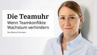 Die Teamuhr - wenn Teamkonflikte Wacshtum verhindern von Bianca Fuhrmann Consulting