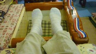 足首の上下運動法 千葉県鎌ケ谷市の整体院  自然医学療法センター橋本です。
