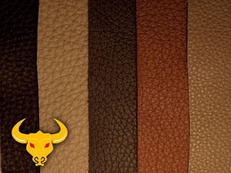 Reinigung und Pflege von dunklem, braunen Glattleder mit Golden Bull Readymix.