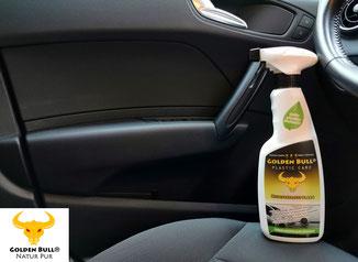 Golden Bull Plastic Care - biologisch abbaubare Reinigung und Pflege für Kunststoffoberflächen im Auto.