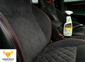 Golden Bull® Textile Clean Polsterreinigung und Textilpflege für Stoffsitze im Auto.
