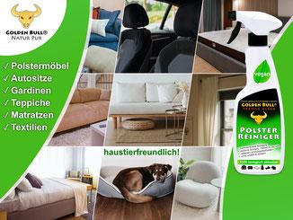 Golden Bull Textile Clean ist auch für die Reinigung und Pflege solch heller Polstersessel bestens geeignet.