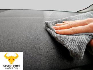 Golden Bull Plastic Care Kunststoffpflege auf die Oberfläche auftragen und einziehen lassen.