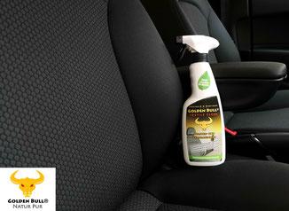 Mit Golden Bull® Textile Clean Polstersitze und Stoffsitze im Auto richtig reinigen.