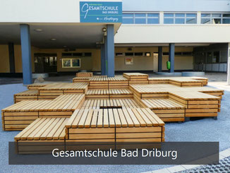 Gesamtschule Bad Driburg - Podest Matrix Stufenpodest