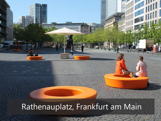 Rathenauplatz - Frankfurt am Main - Loop Sitzkreise in orange