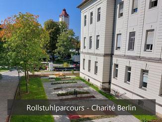 Rollstuhlparcours am SPZ der Charité Berlin