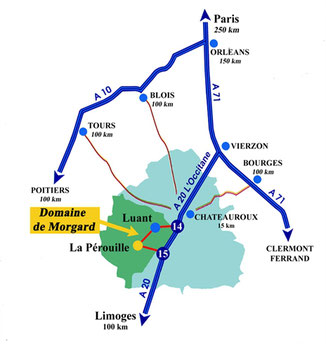 Gîte de France 3 épis - Domaine de Morgard - Gîte Indre (36) - Gîte Brenne