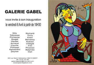 vernissage, 19 juin 2012 GALERIE GABEL,BIOT  ART  COLORE