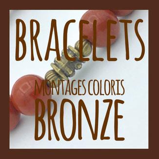 bracelets montage coloris bronze