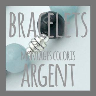 bracelets montage coloris argent