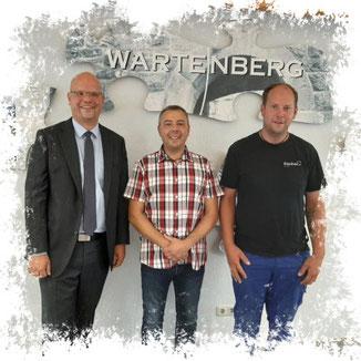 Bürgermeister Dr. Olaf Dahlmann, Markus Wörner und Andreas Kehl