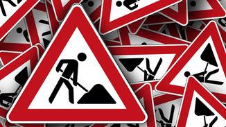 Bauarbeiten im Ortsteil Landenhausen · Symbolbild