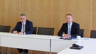 Manfred Görig und Dr. Jens Mischak · Foto→ Pressestelle