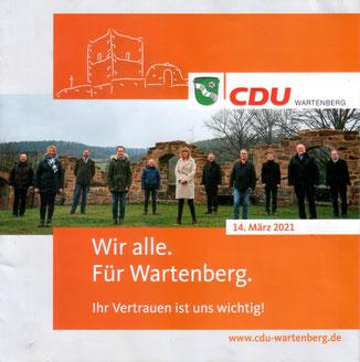 Flyer · Foto→ CDU Wartenberg