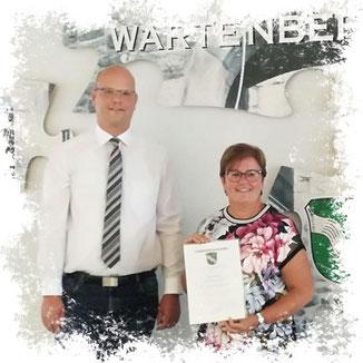 Bürgermeister Dr. Olaf Dahlmann und Monika Dickel