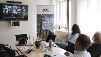 Video-Konferenz · Foto→ Sabine Galle-Schäfer