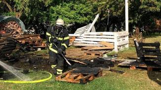 Feuerwehreinsatz Landenhausen · Foto→ Feuerwehr