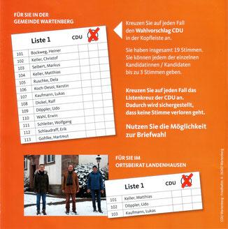 Unsere Kandidaten · Fotos→ CDU Wartenberg