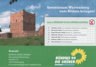Flyer · Grüne Wartenberg