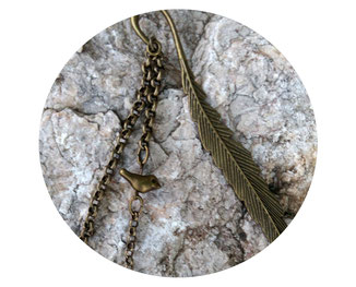 marque-pages, bronze, nature, oiseau, plume, livre, bijoux