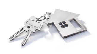 Schlüssel zum neuen Einfamilienhaus