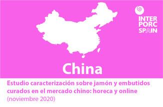 INTERPORC Estudio caracterización sobre jamón y embutidos curados en el mercado chino: horeca y online (noviembre 2020).  Disponible bajo petición :internacional@interporc.com