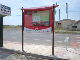 Ecomomico, robusto, elegante, fabricacion propia, segun normativa navarra de señalizacion informativa turistica