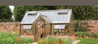 Viktorianisch englische Gewächshäuser von Hartley Botanic