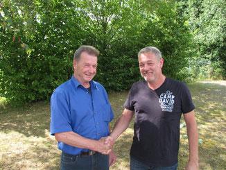 Otto Seibert (l.) und Jürgen Dammköhler (r.)