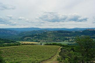 Blick ins Mirna-Tal und Hinterland