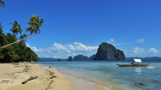 Las Cabanas Beach, Nord-Palawan