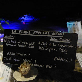 Restaurant La Plage, Corong Corong Beach
