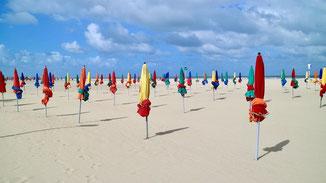 Strand von Deauville, Normandie
