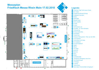 Messeplan Friedfisch Messe Rhein Main 17.02.2018