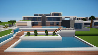 minecraft modern large mansion house download