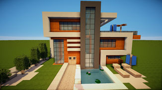 minecraft large modern house download