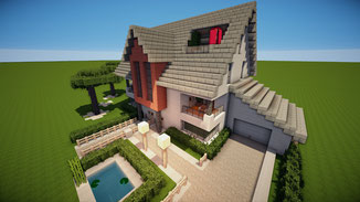 minecraft modern family house download
