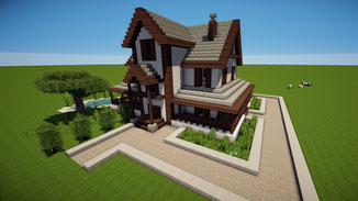 minecraft suburban family house download