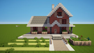 minecraft american suburban house download